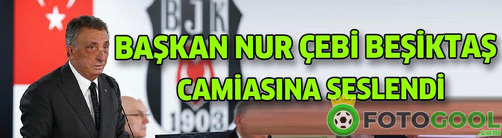 BAŞKAN NUR ÇEBİ CAMİAYA SESLENDİ..