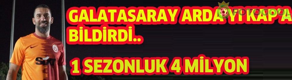 Galatasaray Sportif AŞ'nin Arda'yı KAP'a bildirdi.
