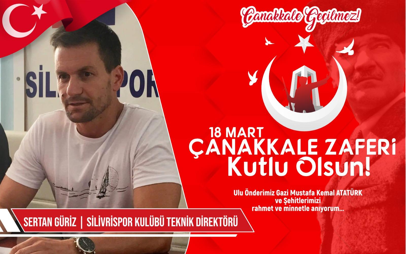 Silivrispor teknik direktörü Sertan Güriz'den Kutlama ve Anma Mesajı
