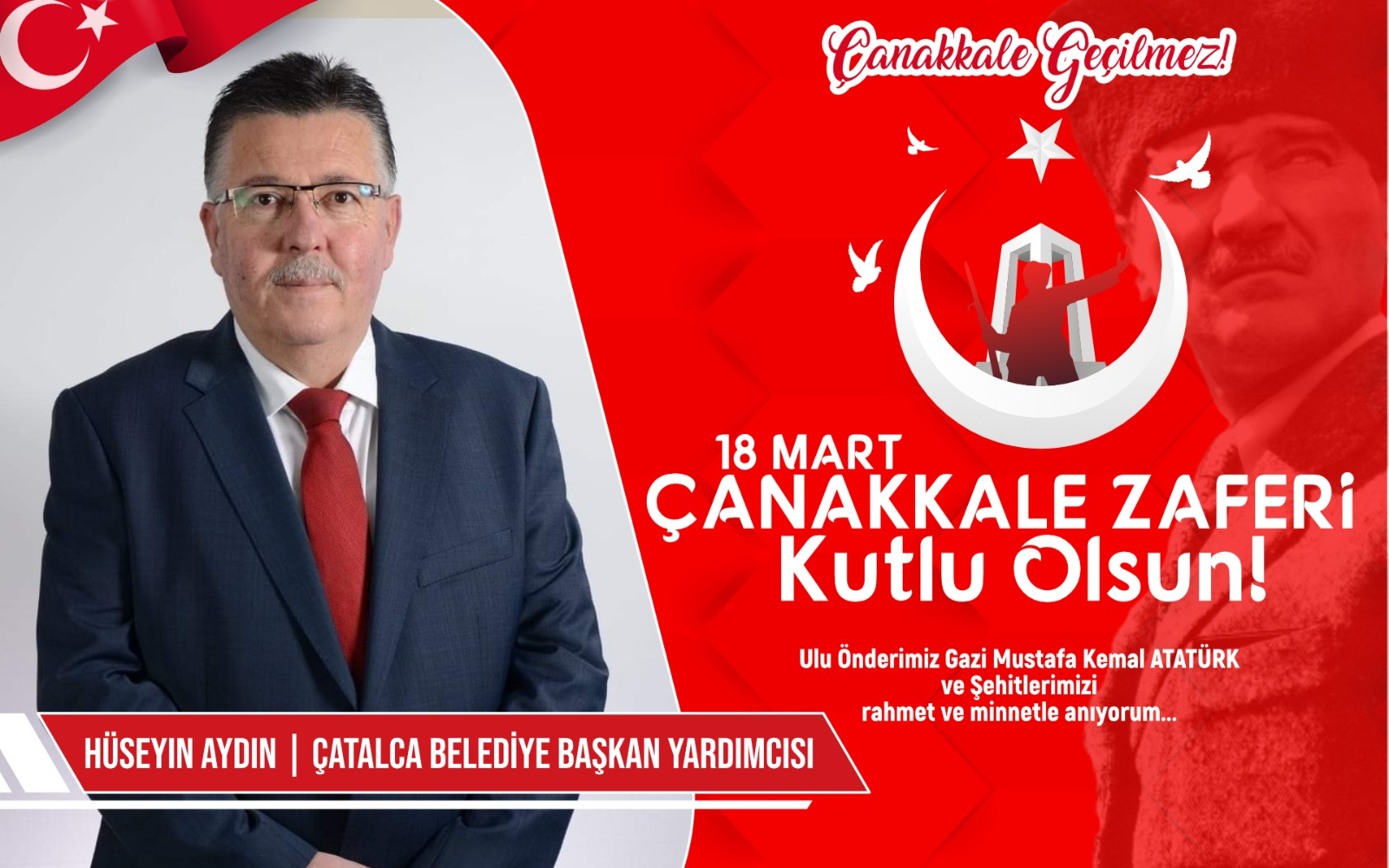 Çatalca Belediye Başkan Yardımcısı Hüseyin Aydın'dan Kutlama ve Anma mesajı