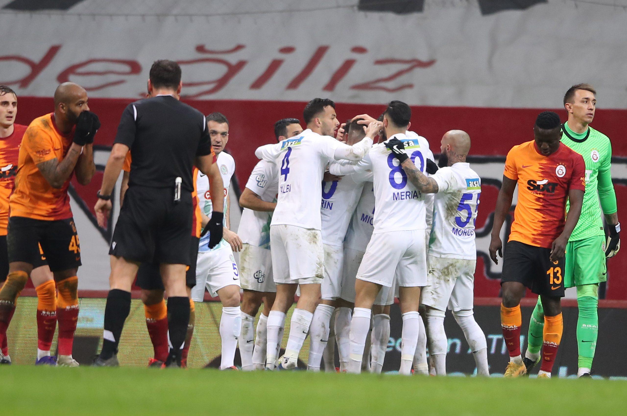 Galatasaray'a Rizespor engeli 3-4