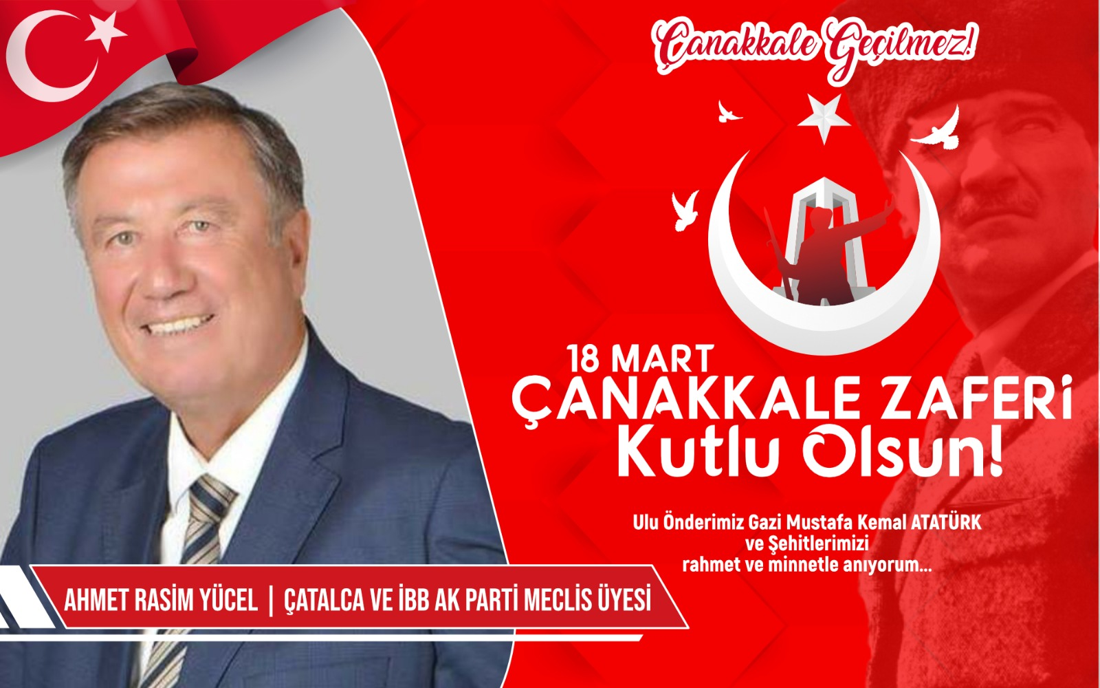 Çatalca ve İBB AK Parti Meclis Üyesi A.Rasim Yücel'den Kutlama ve Anma Mesajı