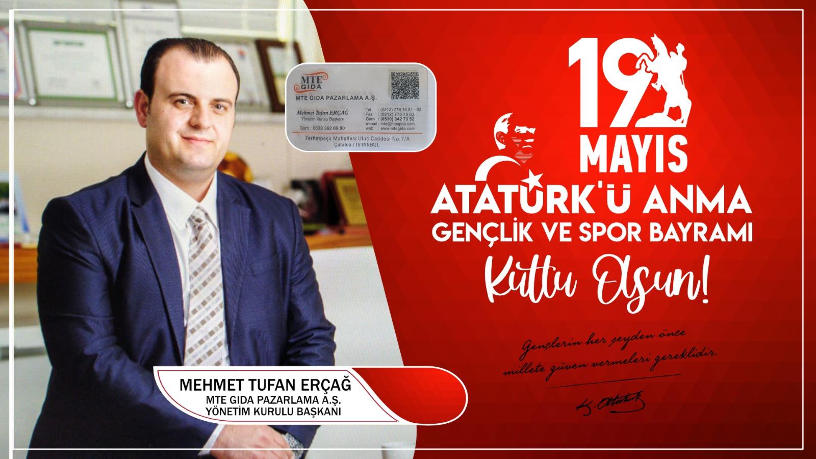 Mehmet Erçağ'dan Kutlama Mesajı