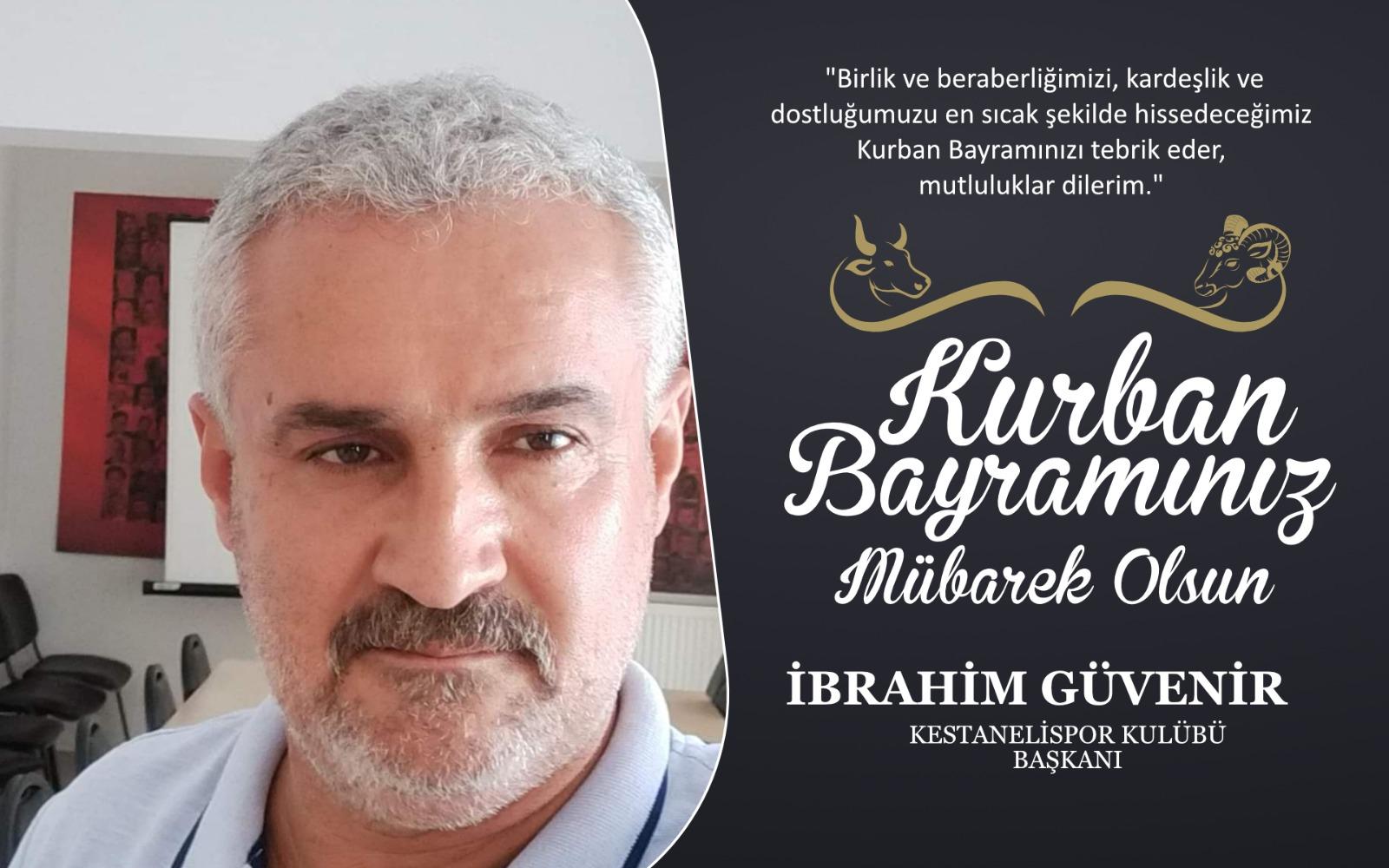 İbrahim Güvenir'den Kurban Bayramı Kutlama Mesajı