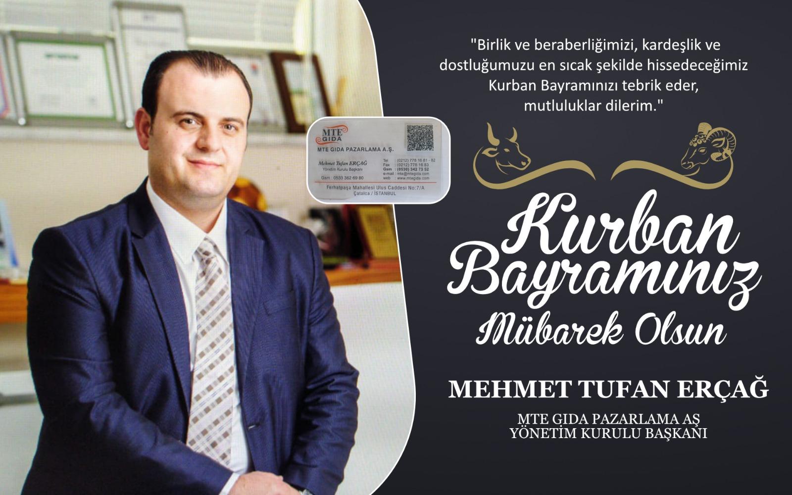 Mehmet Tufan Erçağ'dan Kurban Bayramı Kutlama Mesajı
