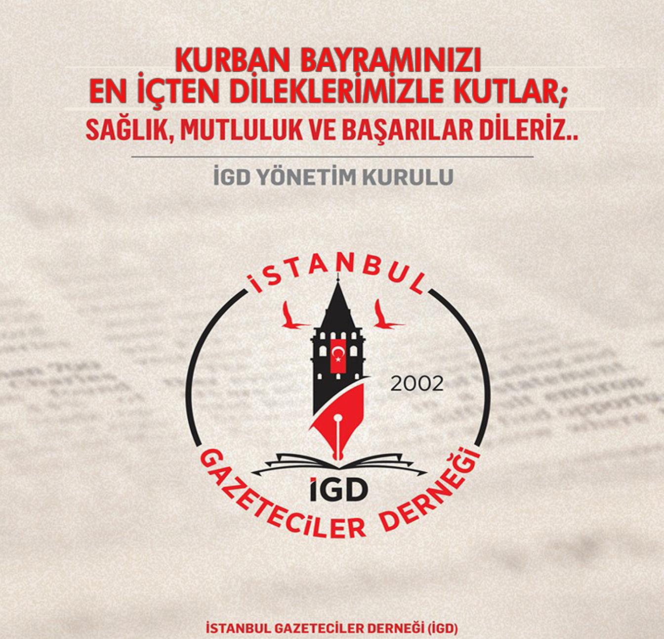 İstanbul Gazeteciler Derneğinden Kurban Bayramı Kutlama mesajı
