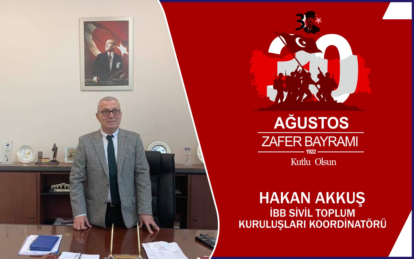 Hasan Akkuş'tan Kutlama Mesajı