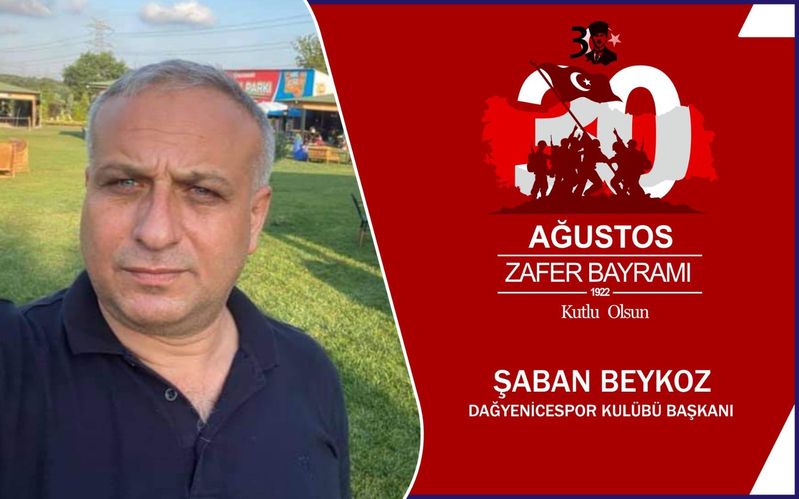 Şaban Beykoz'dan Kutlama Mesajı