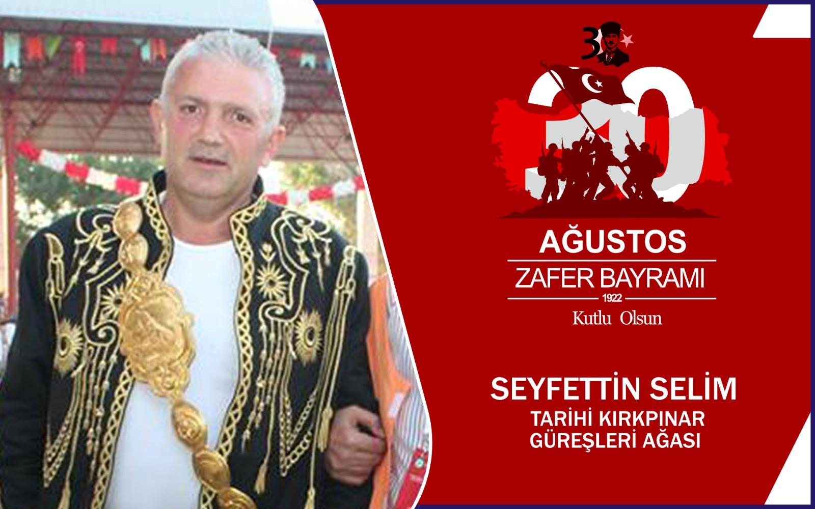 Seyfettin Selim'den Kutlama Mesajı