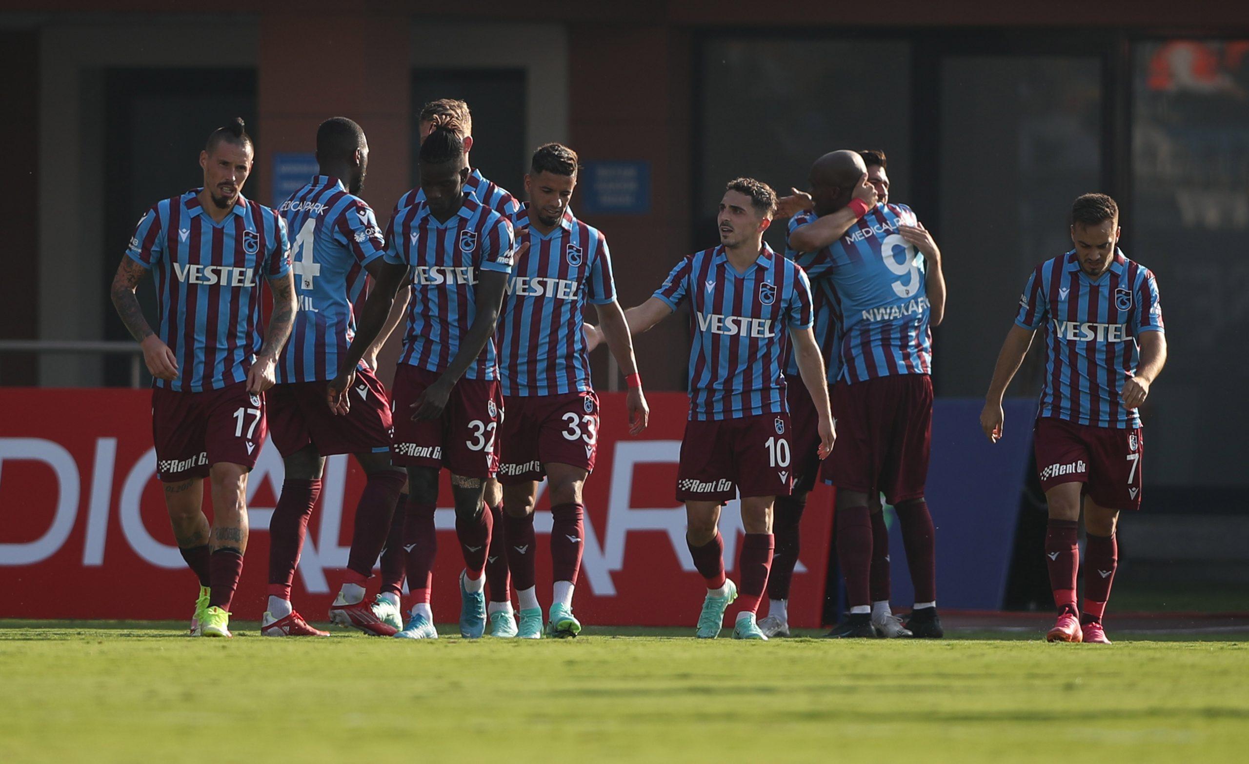 Trabzonspor tek golle geçti  1-0